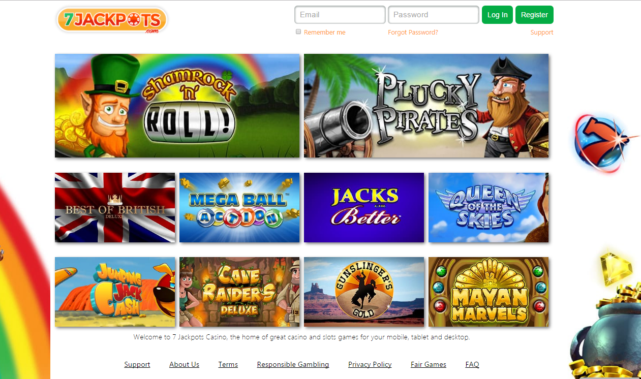 7 jackpots casino exclusive games