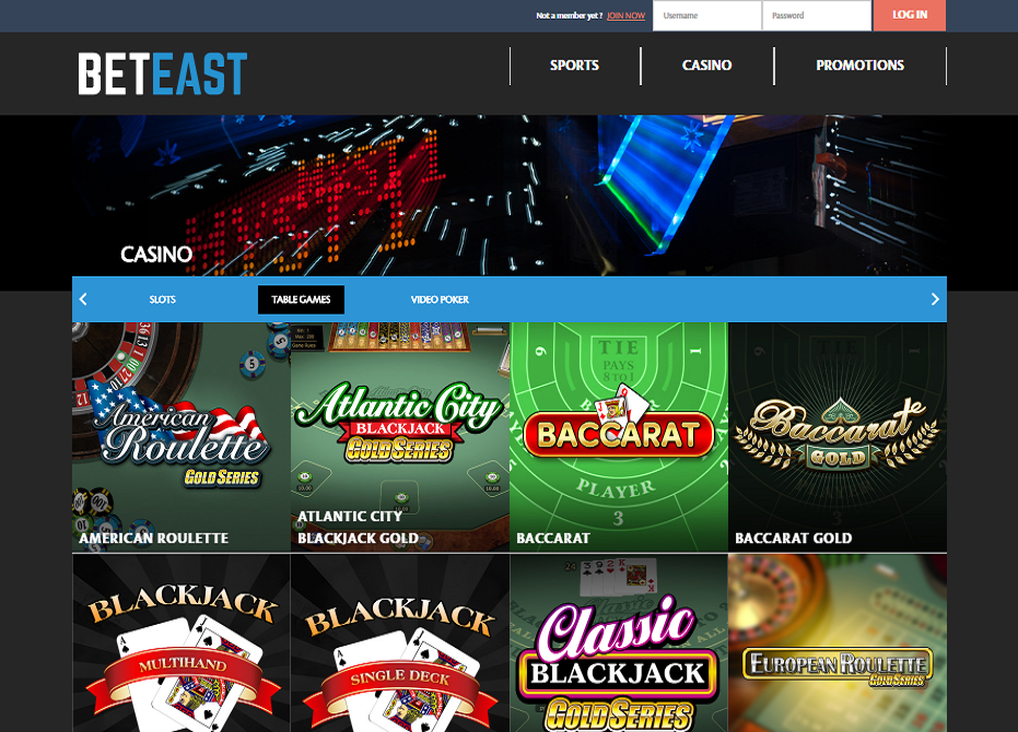 beteast casino table games