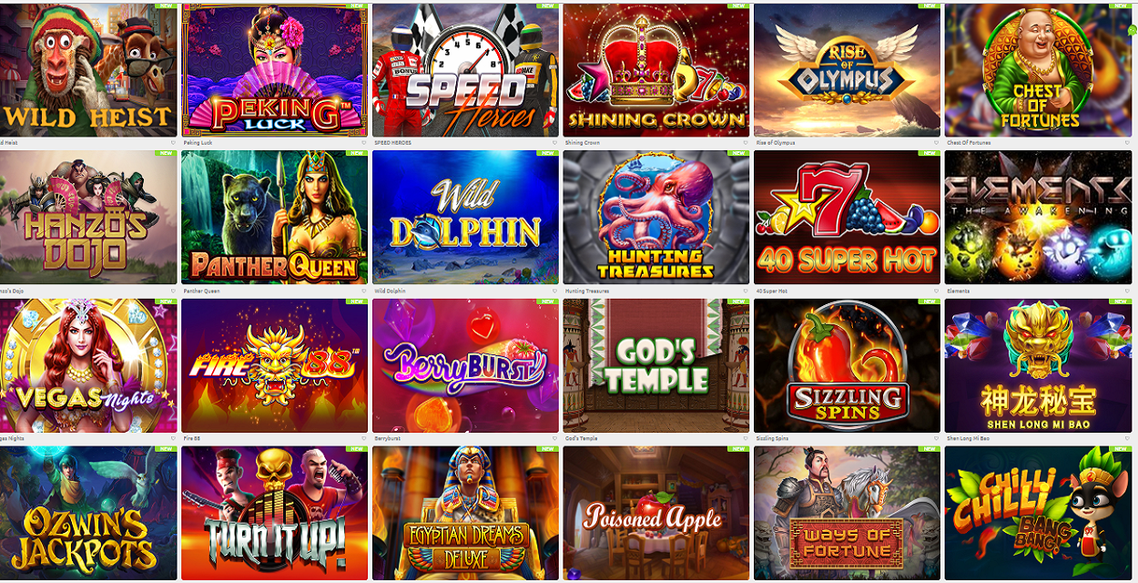 cadoola casino popular games