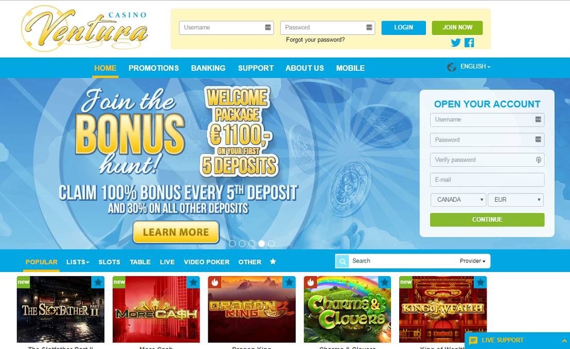 casino ventura welcome bonus