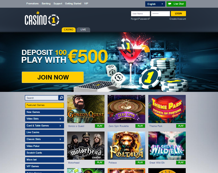 casino1 welcome offer