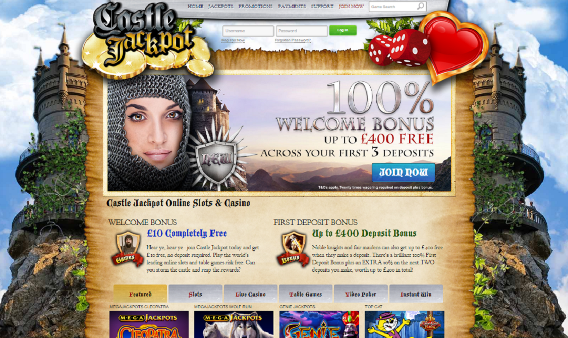 castle jackpot casino welcome offer