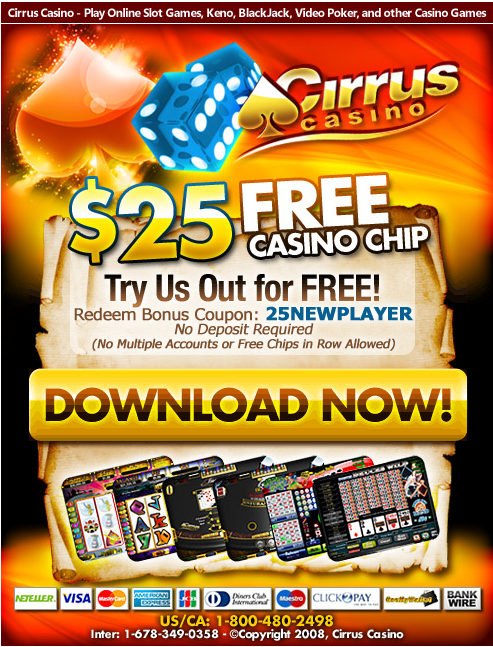 cirrus casino $25 free chips