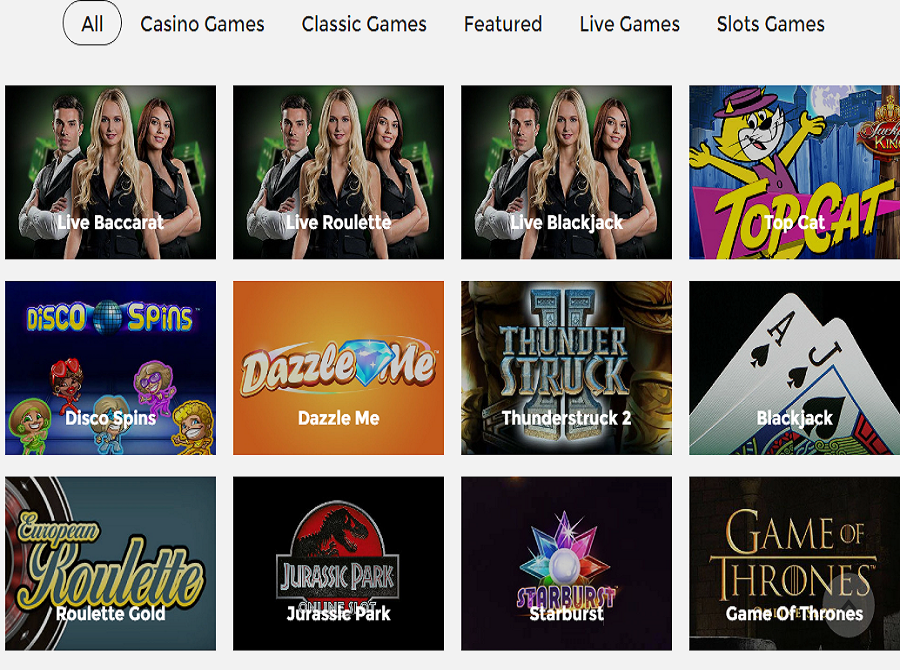 cool play casino games offering