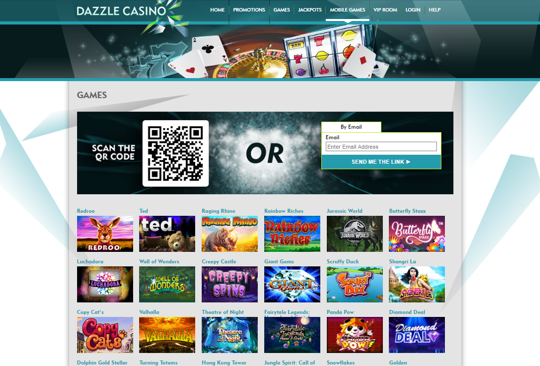DazzleCasino Mobile Casino Games