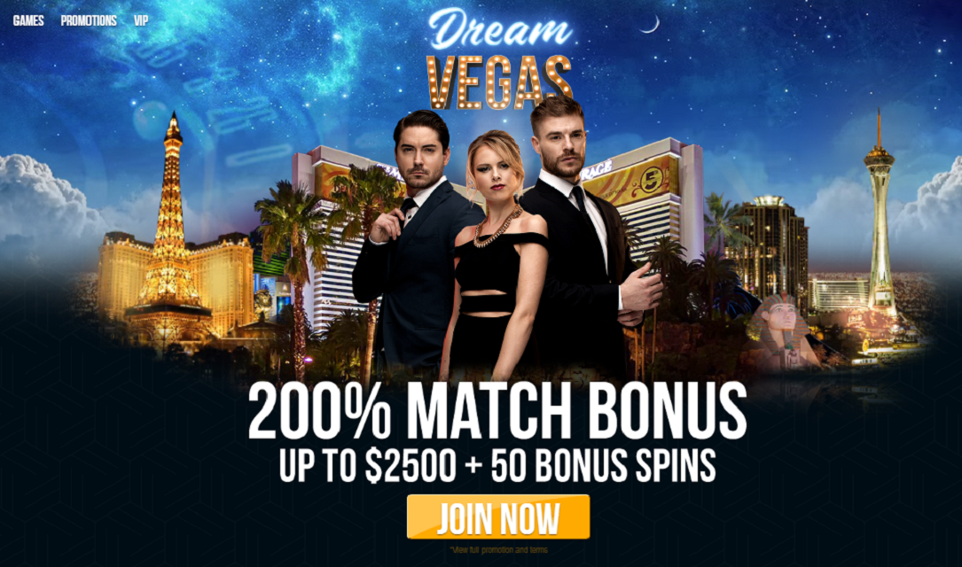 dream vegas casino homepage