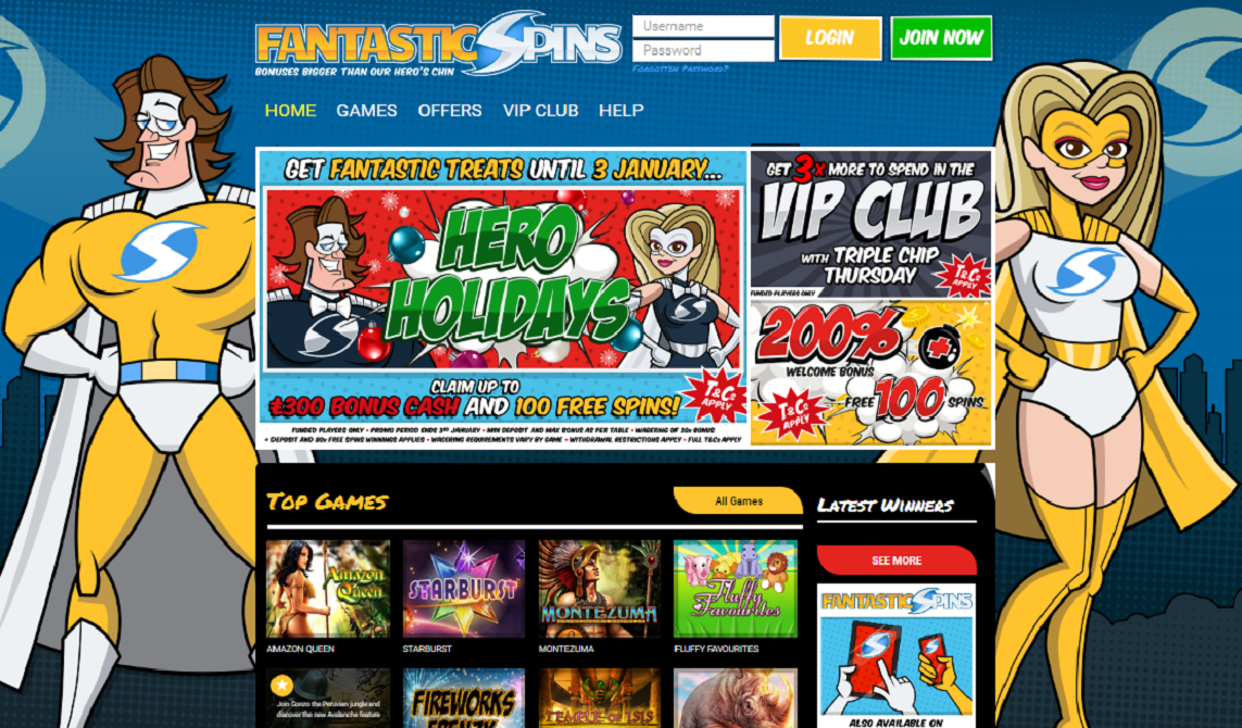 fantastic spins casino home