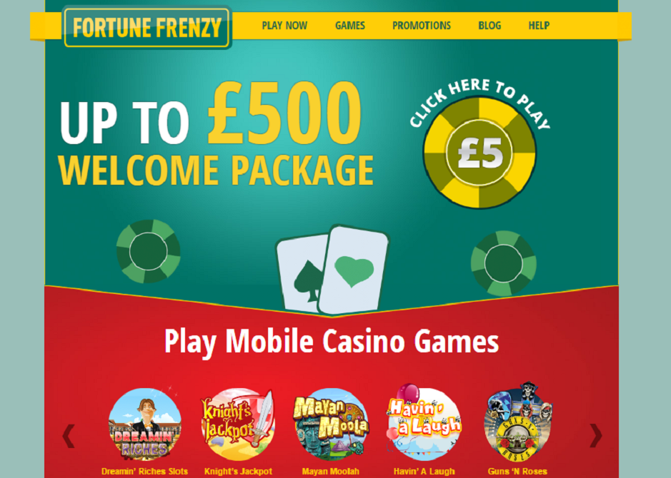 fortune frenzy casino welcome package