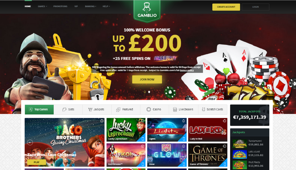 gamblio casino welcome bonus plus free spins