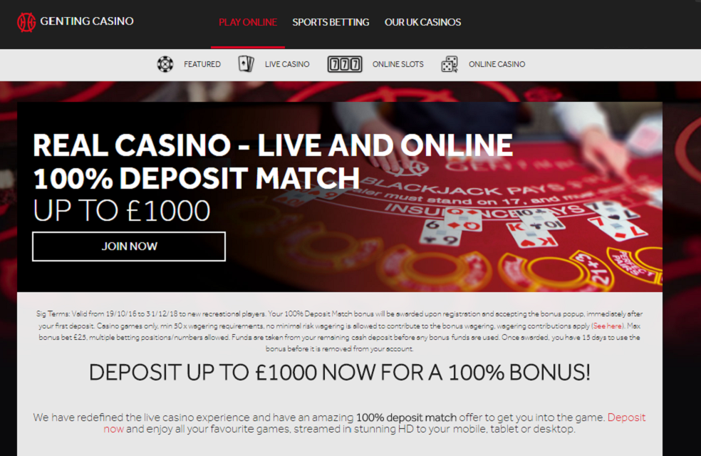genting casino online welcome offer