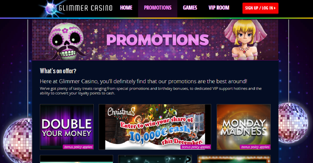 glimmer casino promotions