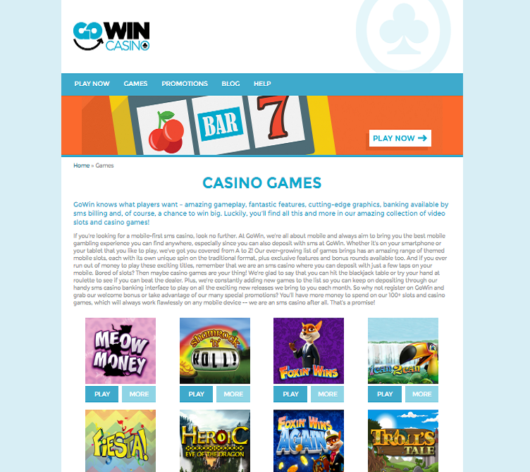 gowin casino games