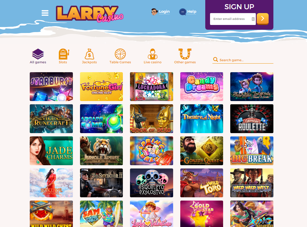 larry casino games page