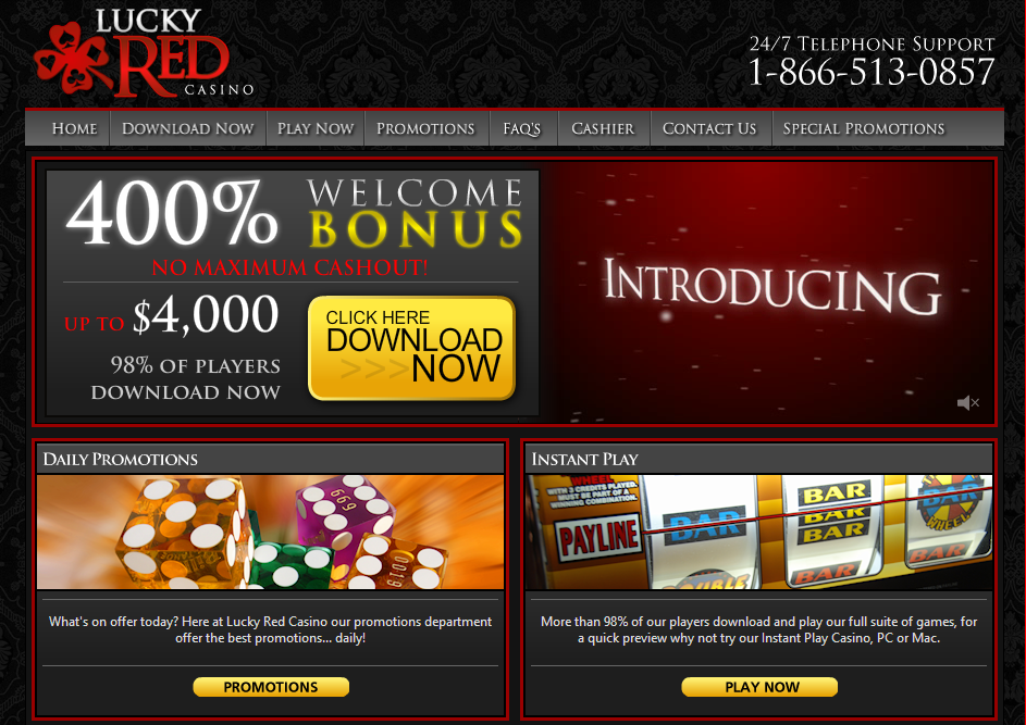 lucky red casino $4000 welcome bonuses