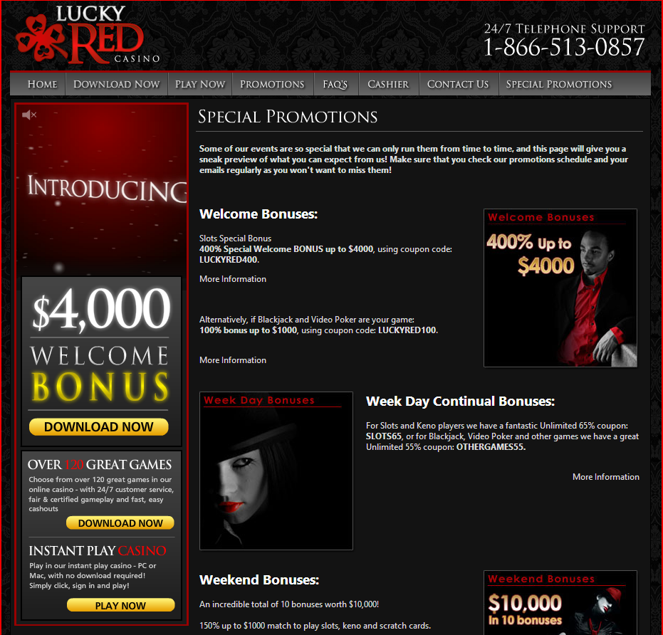 lucky red casino $15 no deposit required.