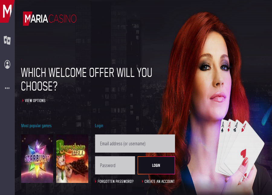 maria casino pick your welcome offer