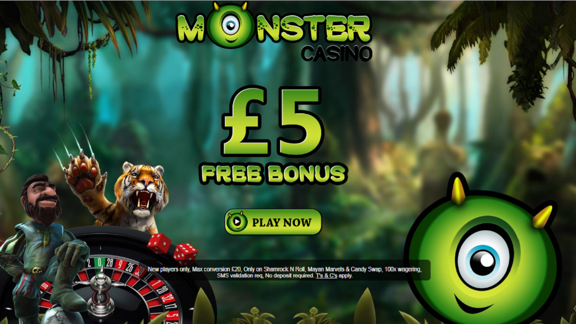 monster casino - no deposit bonus