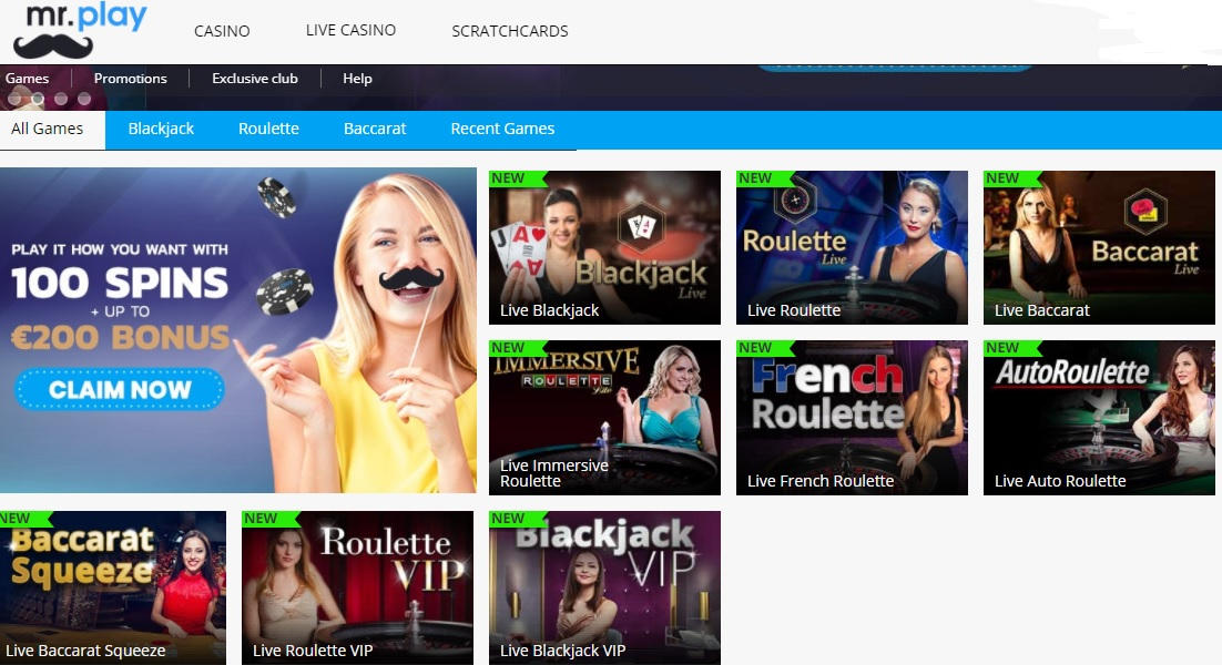 mr play casino - live casino