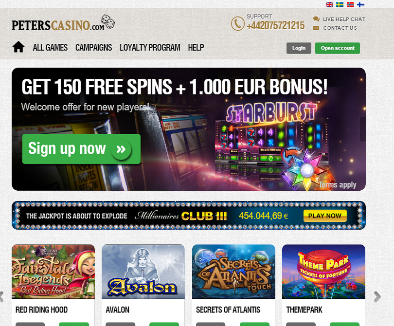 peters casino welcome offer for new players