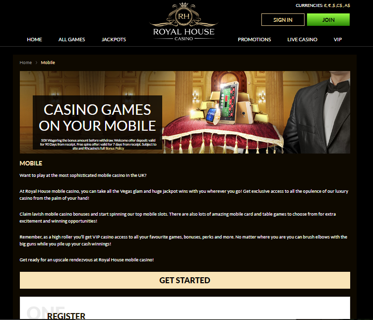 Royal House Casino Mobile Games