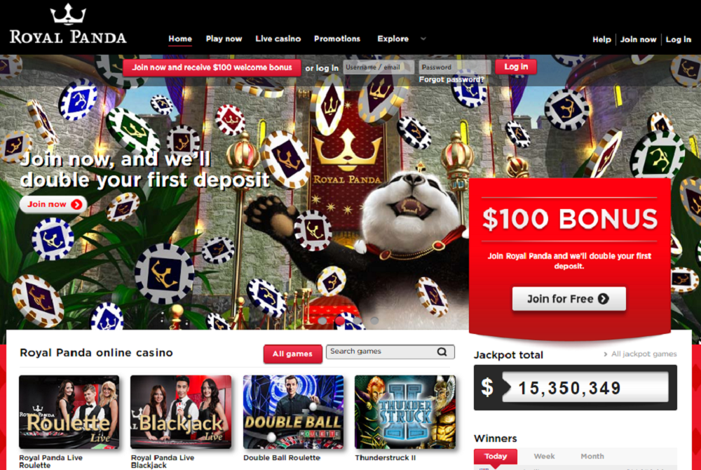 royal panda casino first deposit rewards