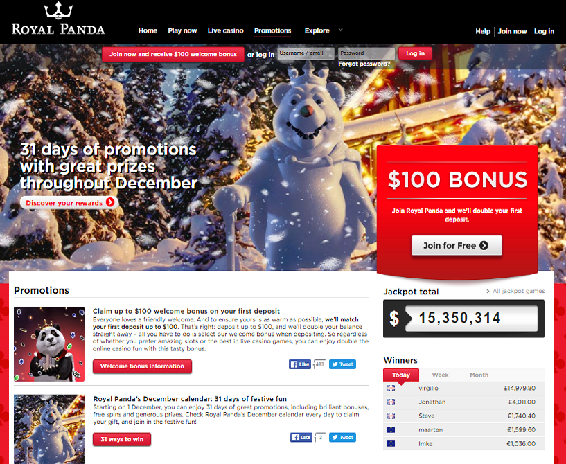 royal panda casino promotional offers