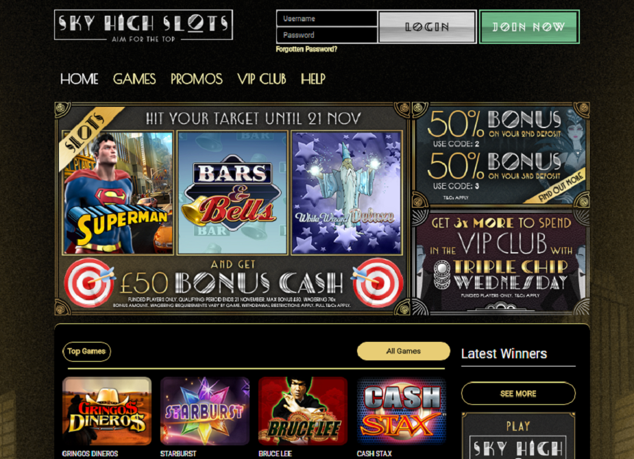 sky high slots casino bonus cash