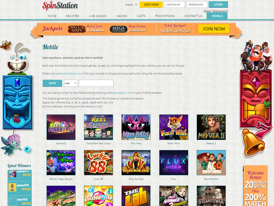 Spin Station Casino Mobile Play on-the-go