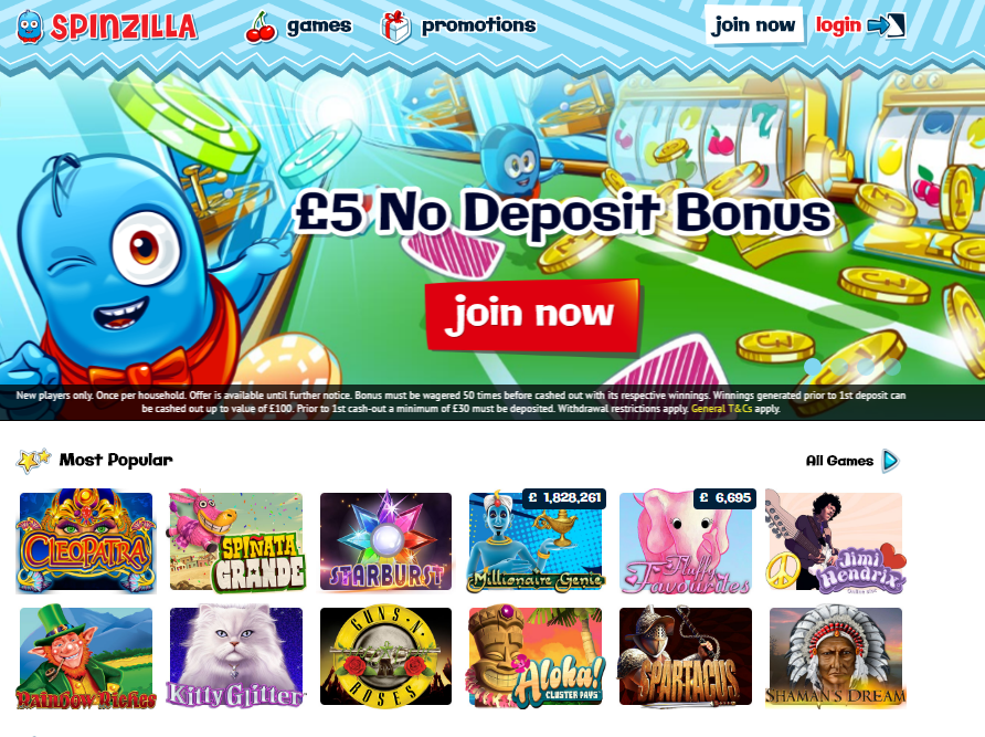 spinzilla casino no deposit bonus