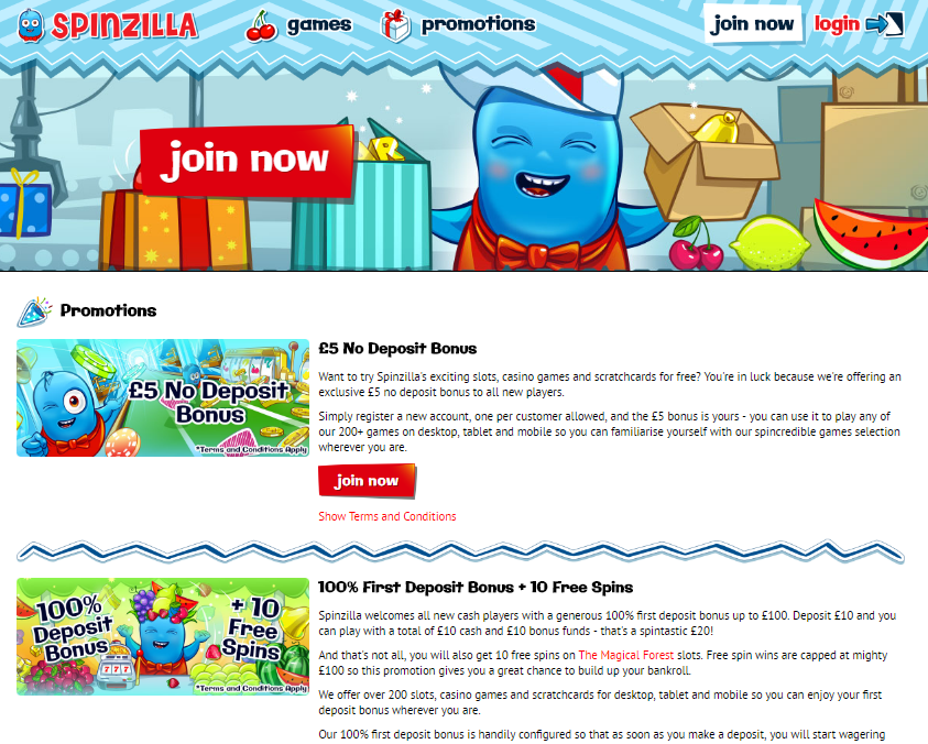 spinzilla casino promotions