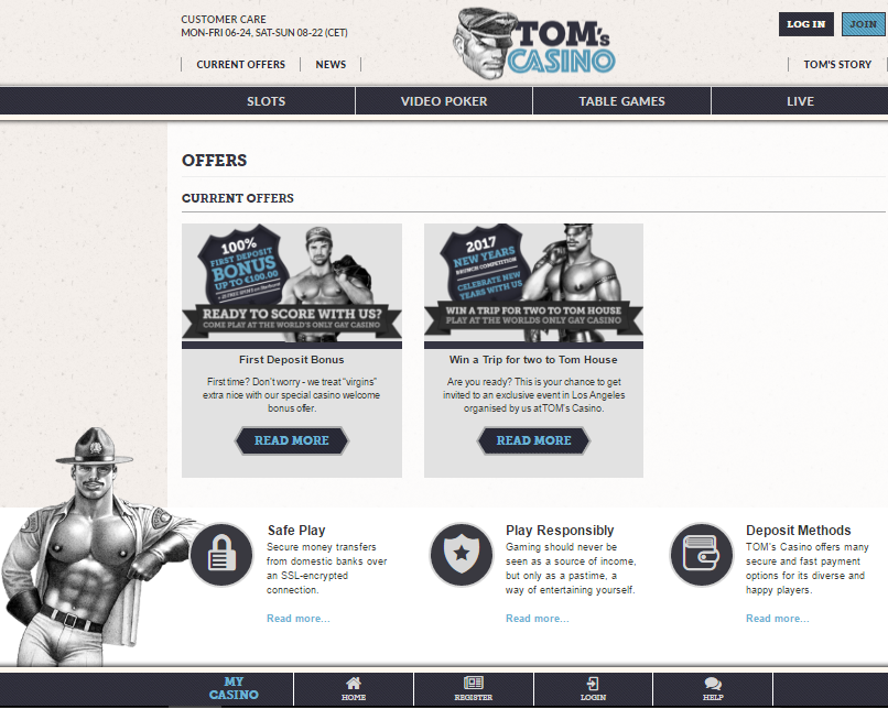 tom's casino promotion offers