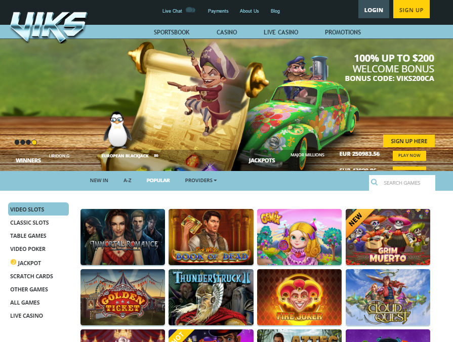 viks casino welcome bonus