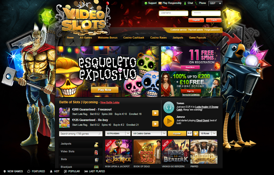 videoslots casino home