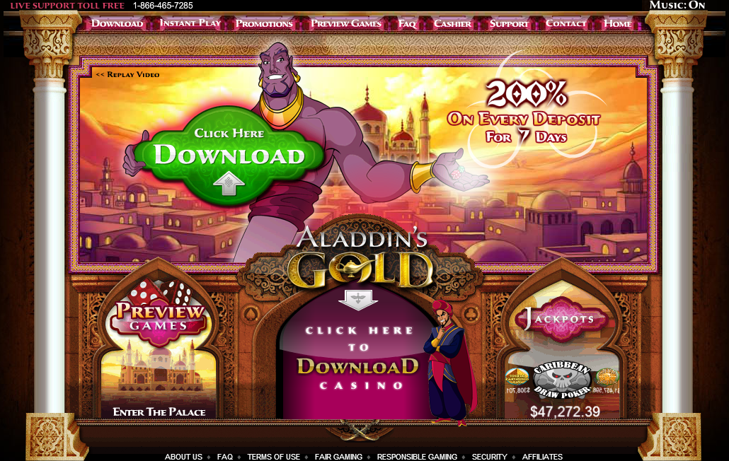 aladdins gold casino exclusive bonus $15 free chip to ocb members