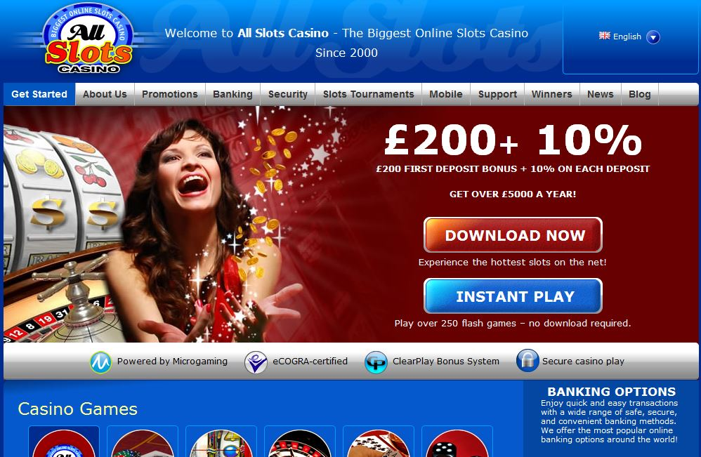 all slots casino welcome bonuses $200 + 10%