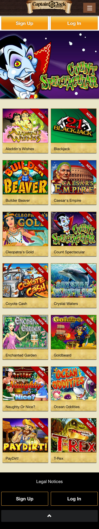 captain jack casino mobile