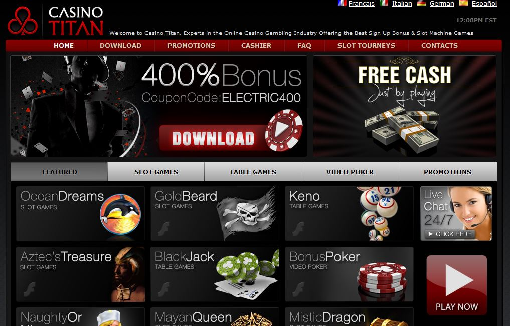 casino titan 400% bonus up to $1000
