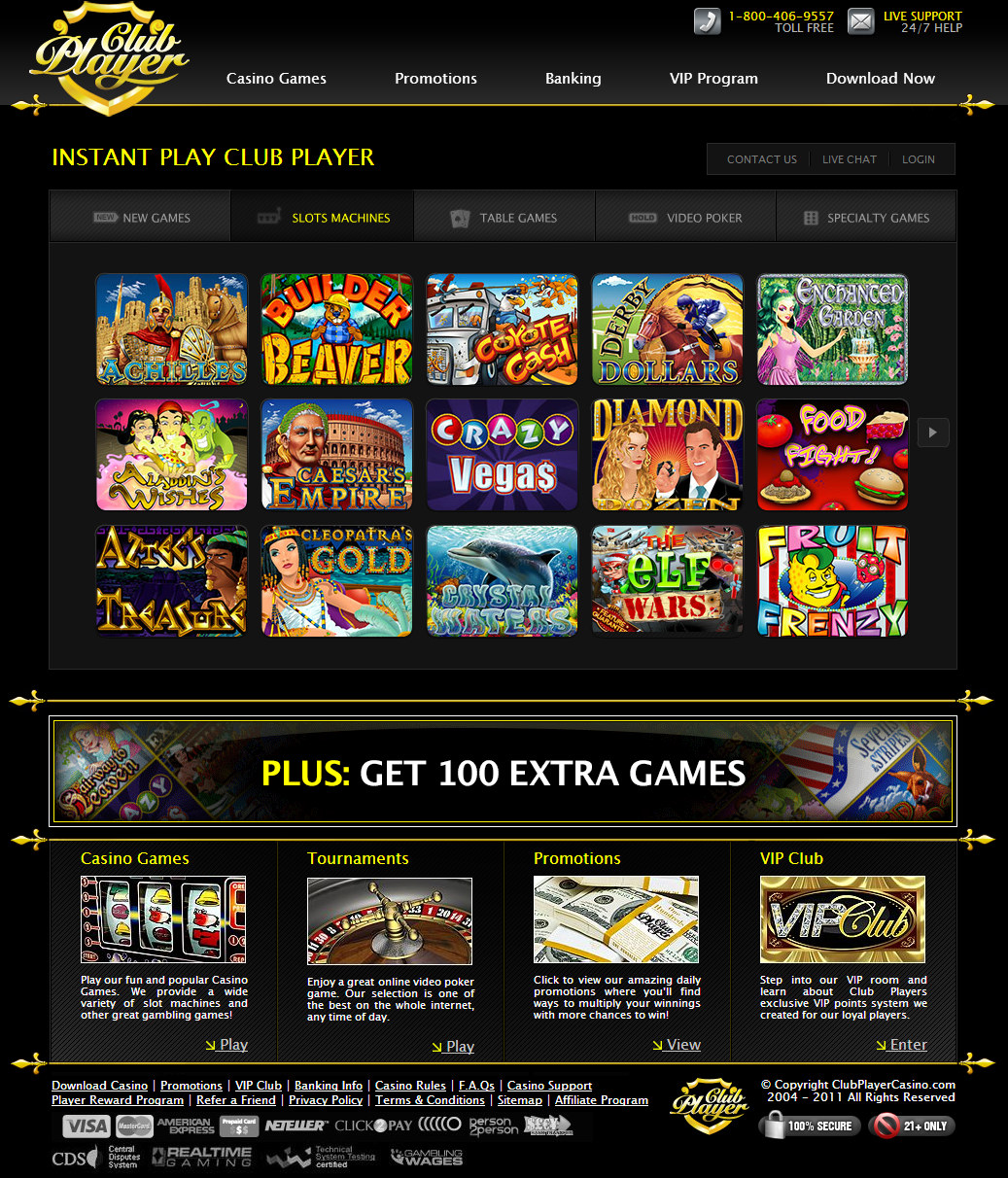 Club Player Casino 100 Free
