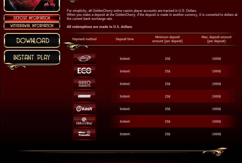 golden cherry casino accept skrill, neteller, ukash...