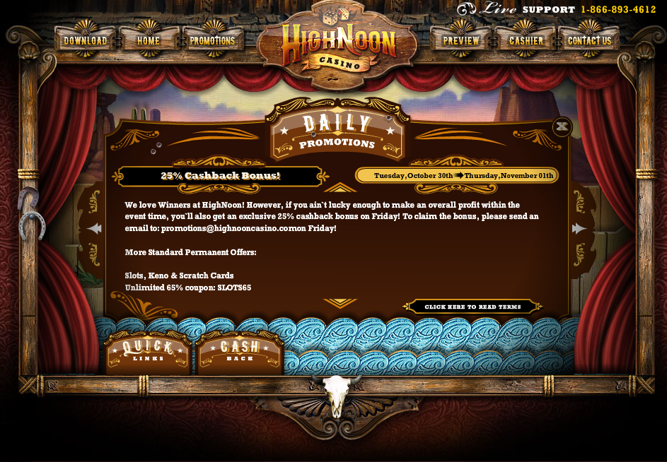 high noon casino promotions