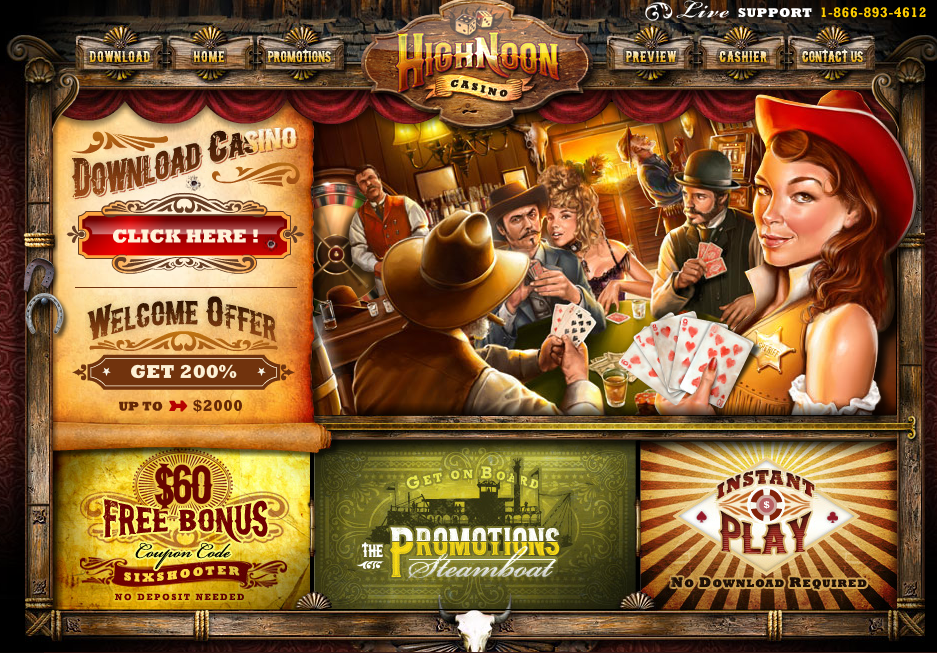 high noon casino bonus $60 free chips no deposit required