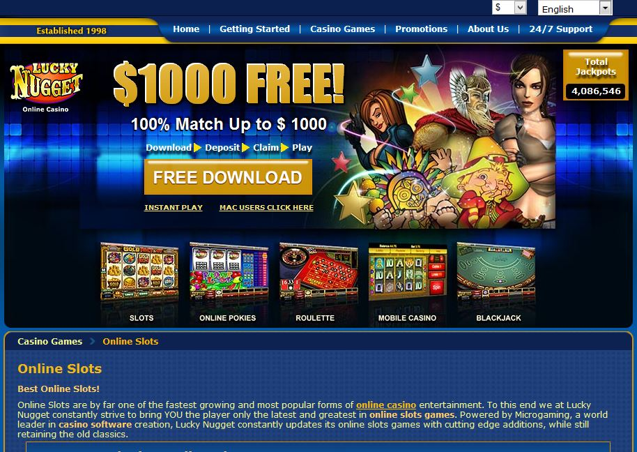 lucky nugget casino $1000 free welcome