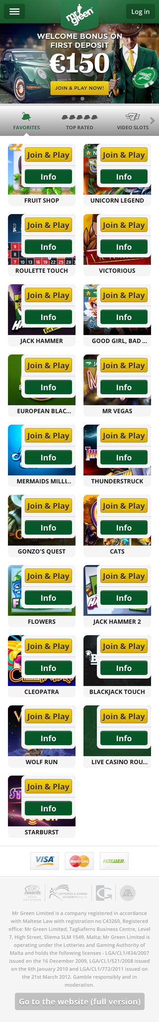 mr green casino mobile bonus