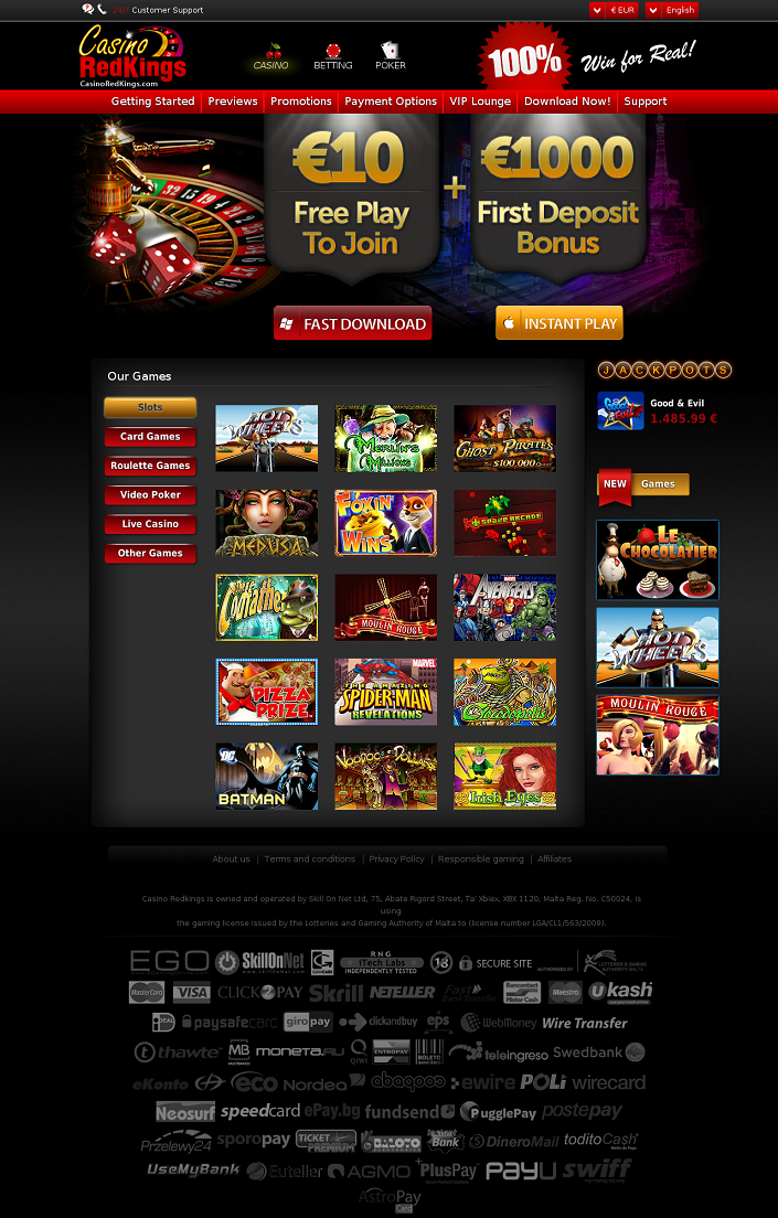 Casino Redkings 15 Free Spins 100