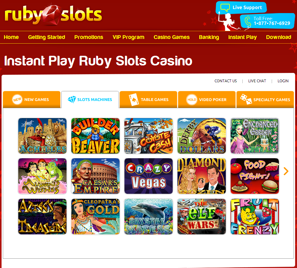 Ruby Slots Casino Review 65 Free Chips Porwin