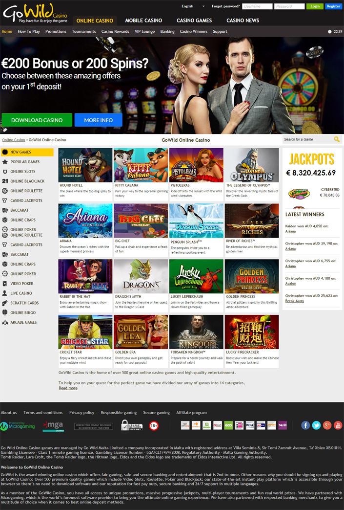 go wild casino mobile login