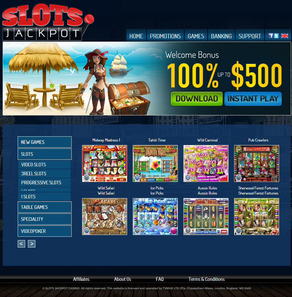 slots jackpot casino review