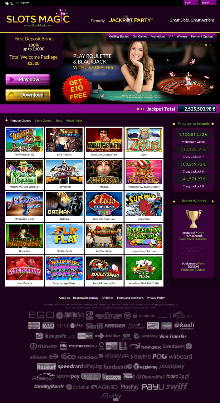 Slots magic login