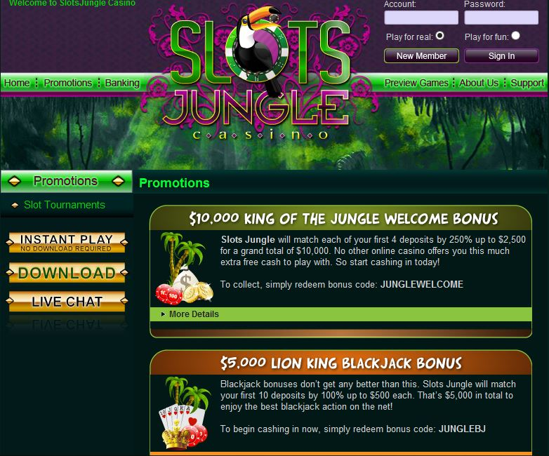 slots jungle casino promotions