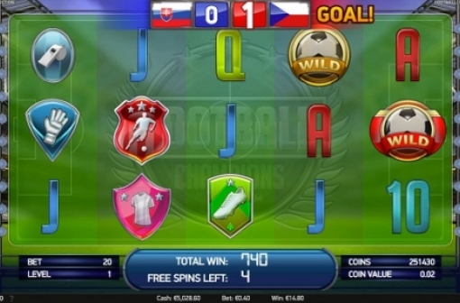 Screencap of NetEnt FootBall: Champions Cup Slot